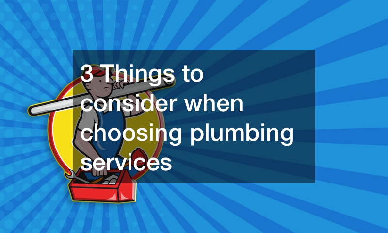 3 Things to consider when choosing plumbing services
