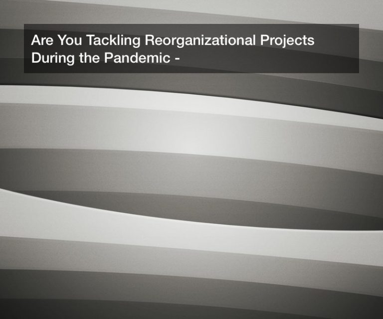 Are You Tackling Reorganizational Projects During the Pandemic?