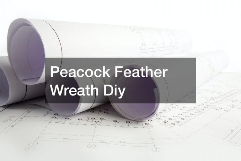 Peacock Feather Wreath Diy